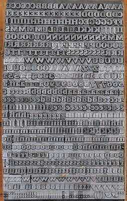Bleischrift 8,5mm Bleisatz Buchdruck Handsatz Lettern Alphabet Letter Druck ABC 2