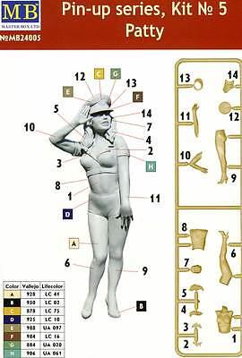 Masterbox Pin-up Girls Frauen 1 Figure Patty 1:24 Modell-Bausatz USA kit 32//35
