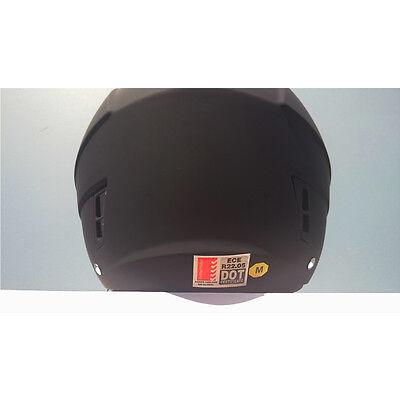 Open face road helmet, adult sizes, Matte black, 5 tick Aust. Std, dual visor