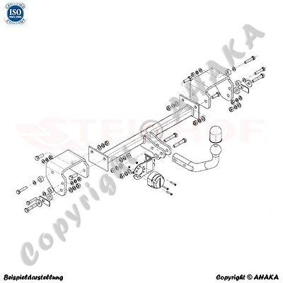 AHK + E-Satz 7 polig Peugeot 107 Bj 2005-2014 Anhängerkupplung AHZV Komplett Neu 2