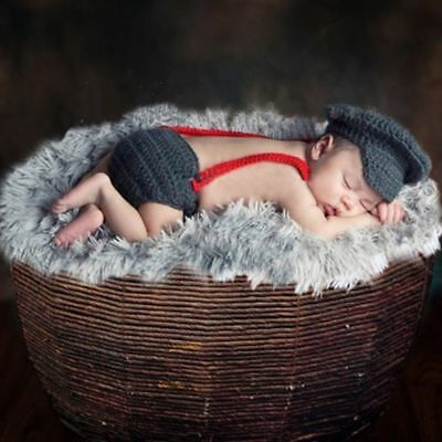 Newborn Baby Girl Boy Crochet Knit Costume Photo Photography Prop Hats Outfits 10