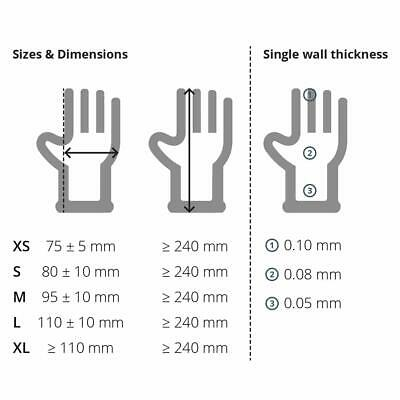 Nitrile Black Disposable Gloves Powder Free Tattoo Car Valeting Mechanic 100 4