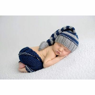 Newborn Baby Girl Boy Crochet Knit Costume Photo Photography Prop Hats Outfits 9