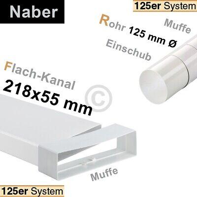 Flachkanalbogen 125erF Naber 4021044 90° vertikal einseitige Muffe für 218x55mm 2