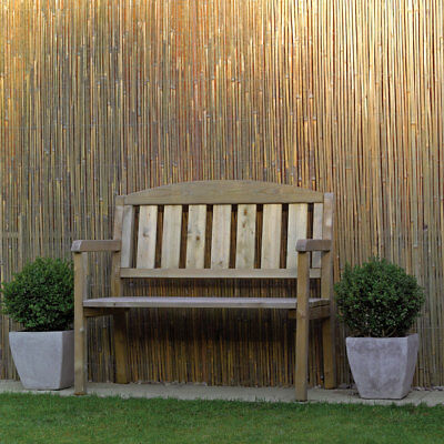 6m x 1.5m Bamboo Slat Screening - Garden Screen Privacy Fencing Panel on Roll 2
