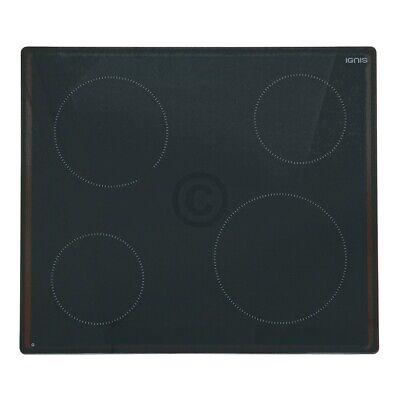 Glaskeramikplatte IGNIS 481010623706 für Kochfeld Herd 2
