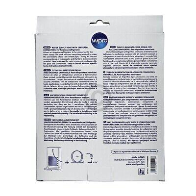 """Zulaufschlauch für Side-by-Side-Kühlschränke 1/4"""" Universal Wpro UKT002 3"""
