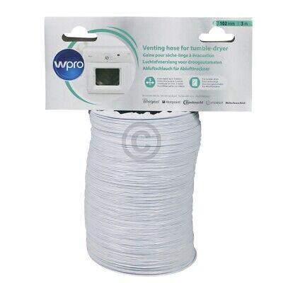 Abluftschlauch 100er Rundsystem 3,0m PVC weiß Wpro 484000008556 ASG310 für Trock 3