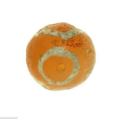 (0627) Yellow Carnelian Bead, Bleached,  China - Tibet.  古董蚀刻玛瑙珠 5