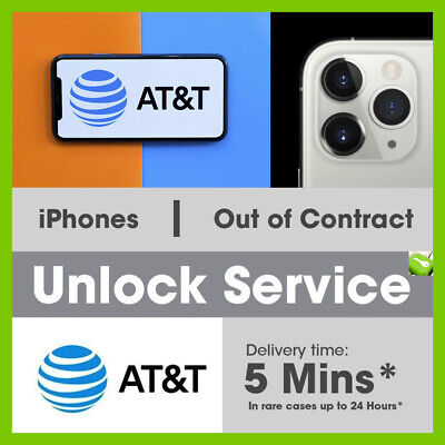 FACTORY UNLOCK SERVICE FOR AT&T IPHONE 11 Pro Max XS XR X 8 7 6 CLEAN IMEI FAST 3