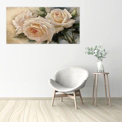 Quadro moderno fiori floreale Stampa su tela Canvas effetto dipinto 2