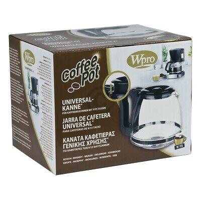 Glaskanne Wpro 484000000319 UCF300 Kaffeekanne Universal 9-15 Tassen für Filterk 4