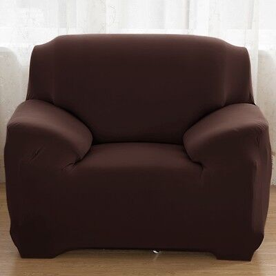 1/2/3/4 Sofa Covers Couch Slipcover Stretch Elastic Fabric Settee Protector Fit 5