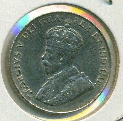 1922 Canada Five Cents, Near S, Choice Au/bu, Great Price!