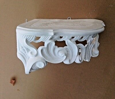 Wall Console Antique White Barok Shelf 38x28 Mirror Corner Flower Stand 6