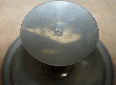 Rare Liberty Of London Tudric Pewter Tazzar With Barley Twist Walnut Stem Tray 7