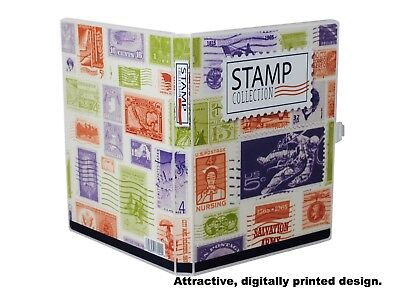 Stamp Collection Kit/Album, w/ 10 Pages, Holds 150-300 Stamps (No Stamps) 6
