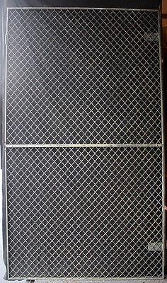 6avail 46x83 Vintage Steel Metal Fence Gate Door Panel Grille Industrial Factory 2