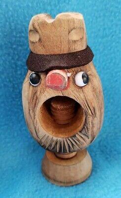Vintage Black Forest Tyrolean Carved Wooden Screw Nutcracker Wood Nut Cracker 2