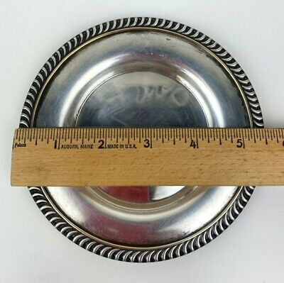 Stanley Home Products National Silverplate Wine Coaster Plate 6