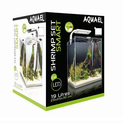 AQUAEL Nano Aquarium Shrimp Set 10 L schwarz mit LED Beleuchtung inkl. Zubehör 2