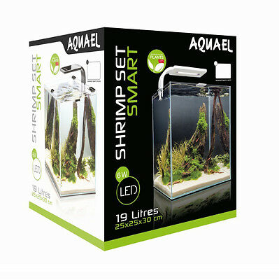 AQUAEL Nano Aquarium Shrimp Set 30 L schwarz mit LED Beleuchtung inkl. Zubehör 2