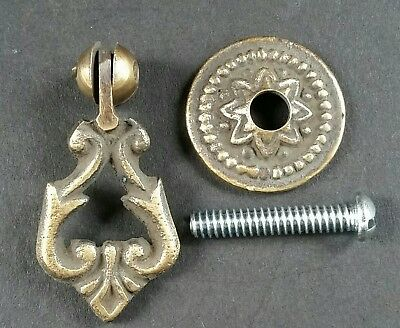 """4 Teardrop Handles Pulls Ornate Victorian Antique Style 2"""" with 4 bolts  # H8"""
