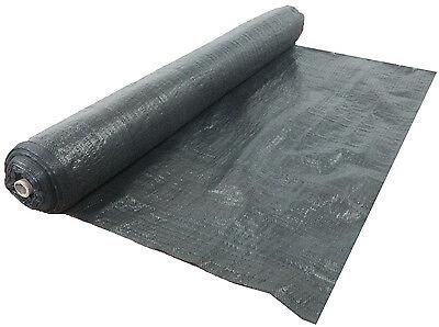 1Mx20M Heavy Duty Black Woven Weed Control Ground Mulch Landscape Fabric 4
