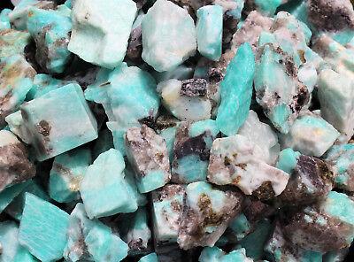 2000 Carat Lot Bulk Natural Rough Amazonite Crystal Healing Raw (400 Grams) 4