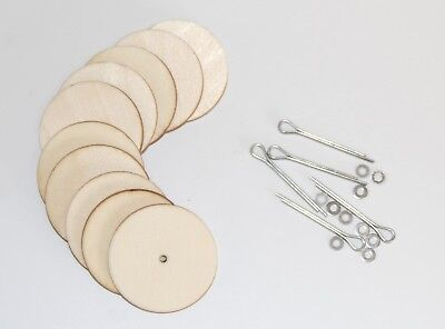 Cotter Pin Joints for Soft Toys & Teddy Crafts - 5 Part Joint Sets- 6mm to 50mm 3