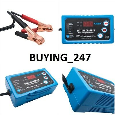 Simply 6V / 12V 2A 6A Smart Battery Trickle Automatic Charger Caravan Motorcycle