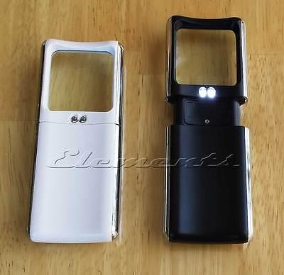 Slide Pull Up 2 LED Pocket Magnifying Glass  X3 Magnification T044 3