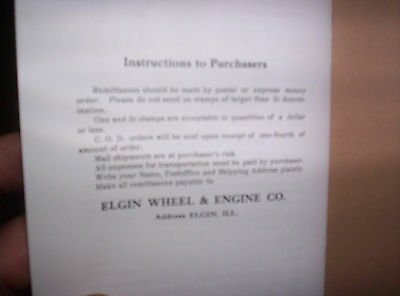 Elgin Upright Hit Miss Gas Engine Sales Booklet Phamplet Before Maytag Upright ! 10