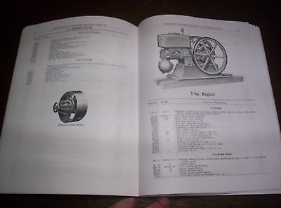 "Waterloo Boy Type ""K"" Hit & Miss Gas Engine Repairs & Price List #11 120 Pages ! 8"