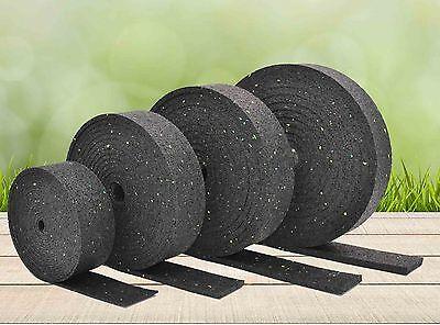 10.000 x 50 x 3mm Gummigranulat Rollen Streifen Terrassen Pads Stelzlager