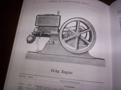 "Waterloo Boy Type ""K"" Hit & Miss Gas Engine Repairs & Price List #11 120 Pages ! 4"
