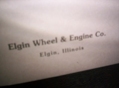 Elgin Upright Hit Miss Gas Engine Sales Booklet Phamplet Before Maytag Upright ! 4