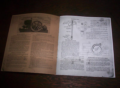 Waterloo Boy H Hit & Miss Gas Engine Manual Instruction Operating Parts List 18 6