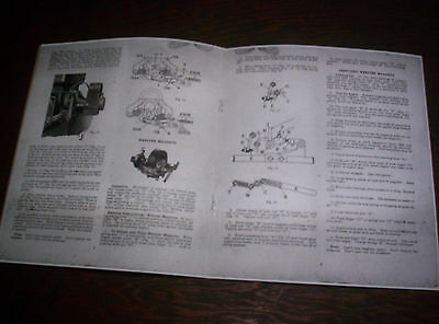 Waterloo Boy H Hit & Miss Gas Engine Manual Instruction Operating Parts List 18 8