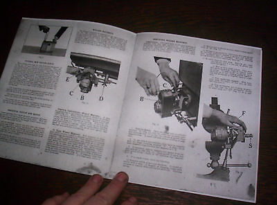 Waterloo Boy H Hit & Miss Gas Engine Manual Instruction Operating Parts List 18 7