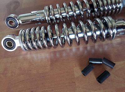 Zündapp Automatic 444 442 Mofa Stoßdämpfer Härteverstellbar verchromt 300mm NEU