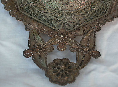 A Fine Solid Silver Antique Middle Eastern Hand Made Filigree Master Piece Tray 4