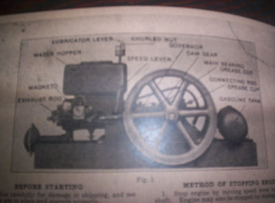 Waterloo Boy H Hit & Miss Gas Engine Manual Instruction Operating Parts List 18 5