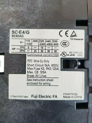 FUJI ELECTRIC CONTACTOR SC-E4/G with SZ-A22/T and SZ-Z36 Modules Attachments 4