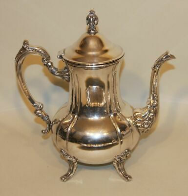 5 Pc Towle Louis Philippe Silverplate Tea Set Coffee Teapot Creamer Sugar & Tray 2
