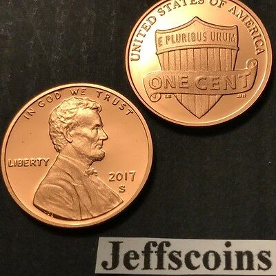 2019 S Lincoln Shield Cent Proof Deep Cameo 1¢ New Penny Union via US Mint Set 3