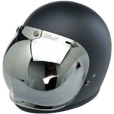 508d2bbe ... Biltwell Bubble Shield Visor Bonanza Gringo Motorcycle Helmet - Chrome  Mirror 4