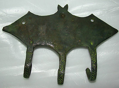 4 Attractive BAT Designed BRASS MADE COAT HOOKS (Very Beautiful) from INDIA 3