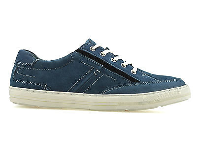 Mens Leather Lace Up Gym Sport Walking Casual Running Driving Trainers Shoe Size