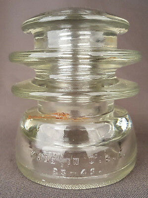 Clear Insulator-Hemingray 56,-Te 23-49-Telegraph-Telephone-USA-Antique Vintage 2